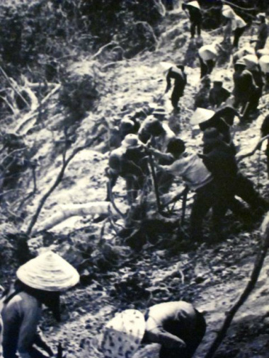 Vietnamese Working on the Ho Chi Minh Trail