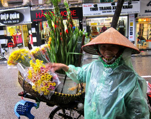 Hanoi Flower Vendor