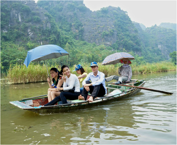 Foot Paddler in Ninh Binh Vietnam
