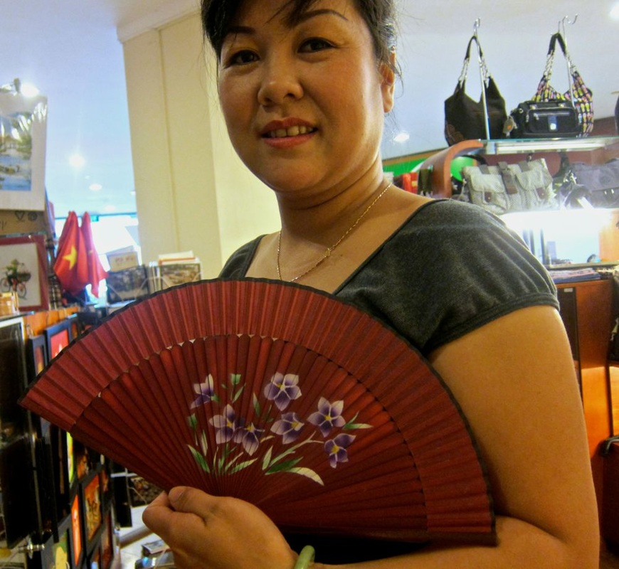 Fan with Flowers