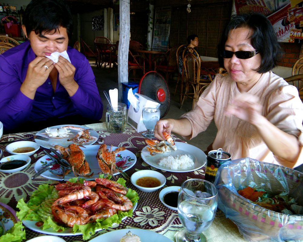 Seafood Feast in Kep
