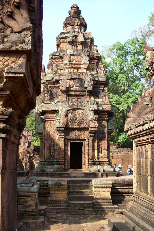 Angkor Temple with Apsaras