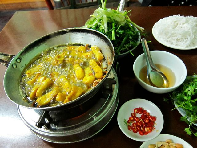 Fish Cooking in Cha Ca La Vong