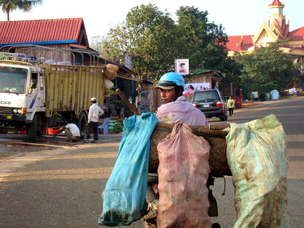 Transporting Goods in Cambodia