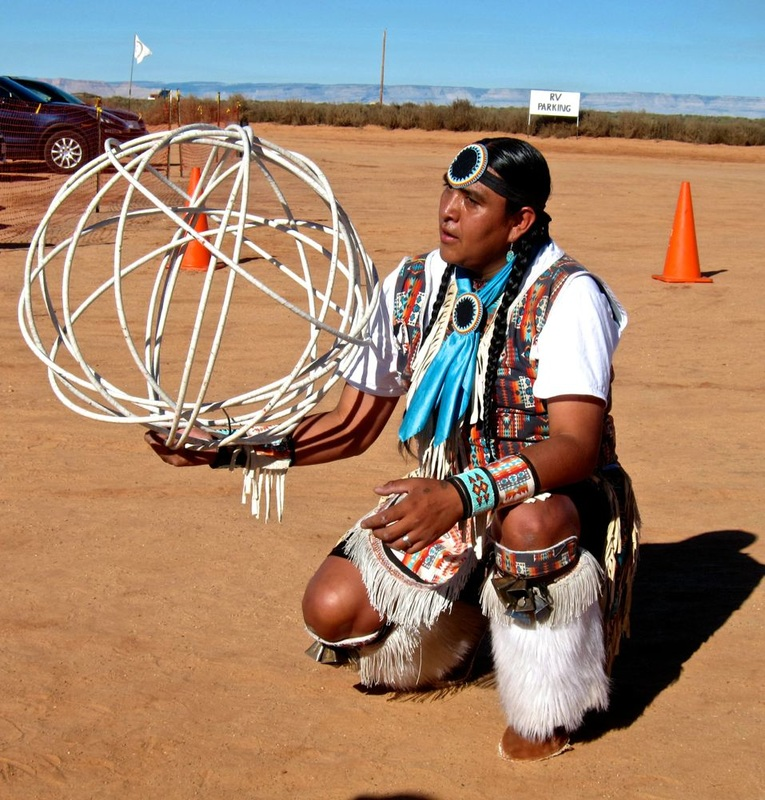 Navajo Practicing for a Competition