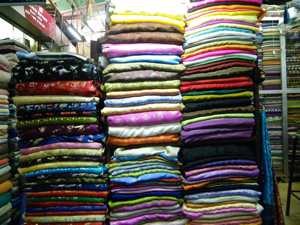 Silk Stall in Russian Market