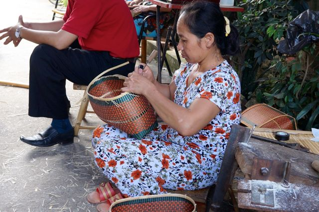 Woman Bamboo Weaver in Phu Vinh
