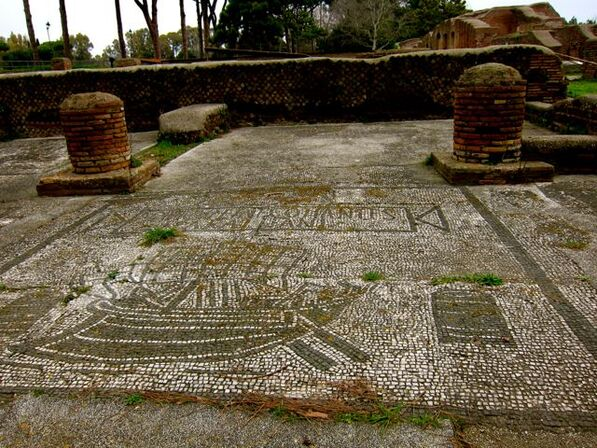 Mosaic of a Ship in Ostia