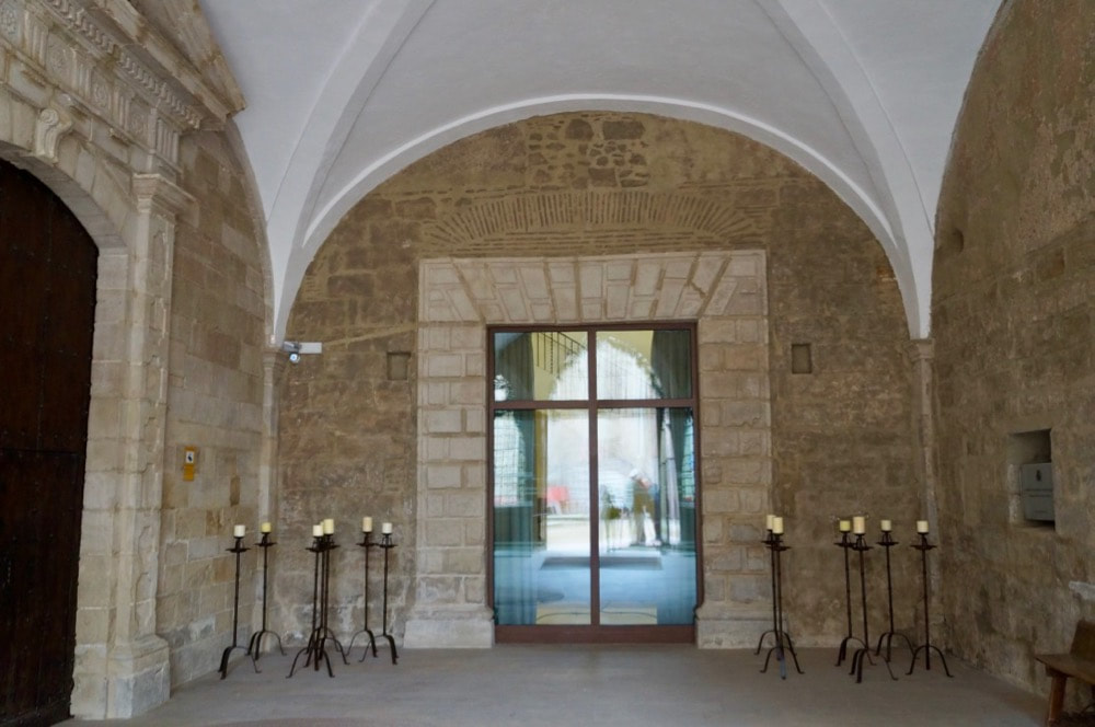 Entrance to the Parador in Lleida