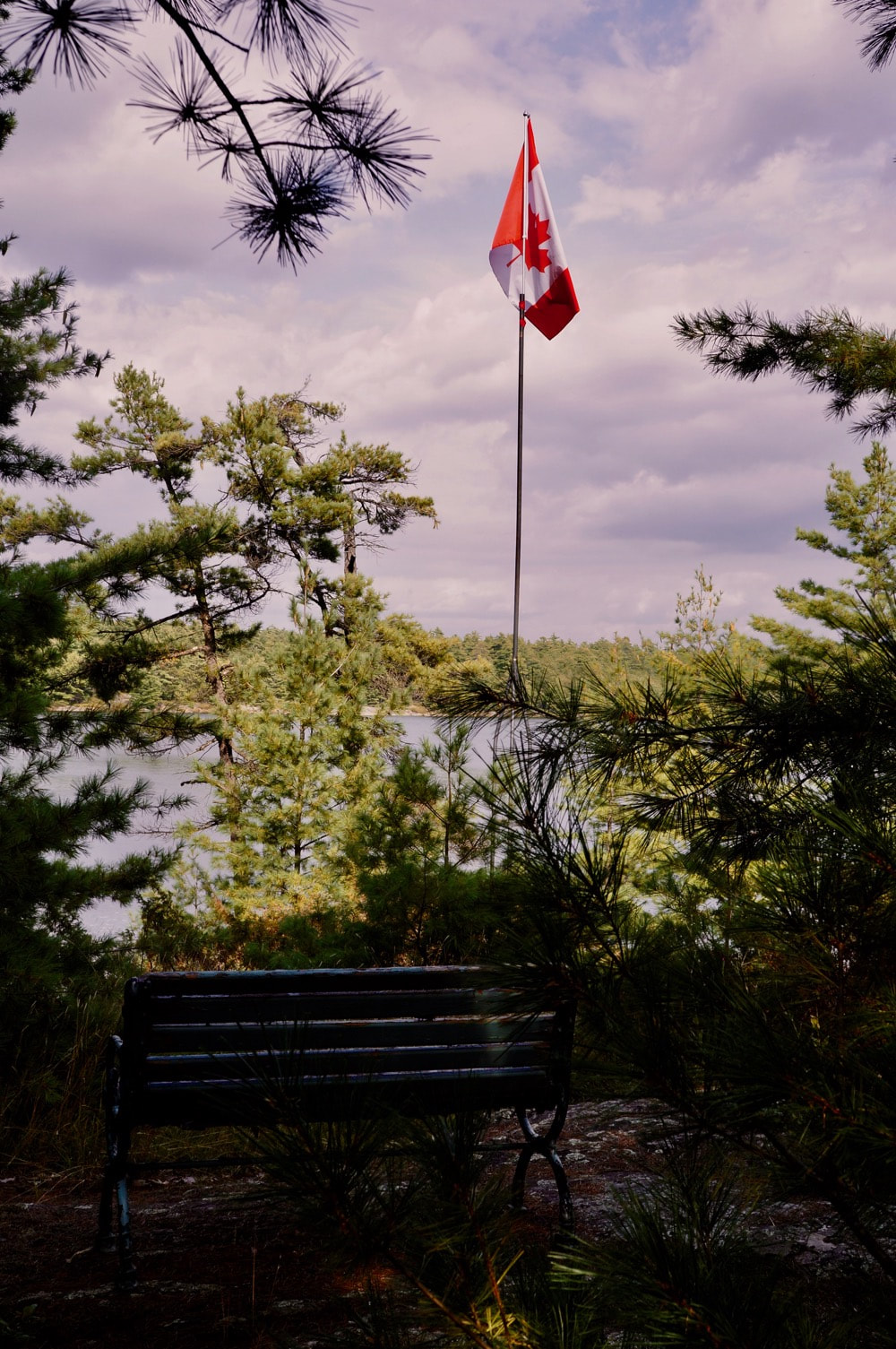 Canadian Flag in Georgian Bay